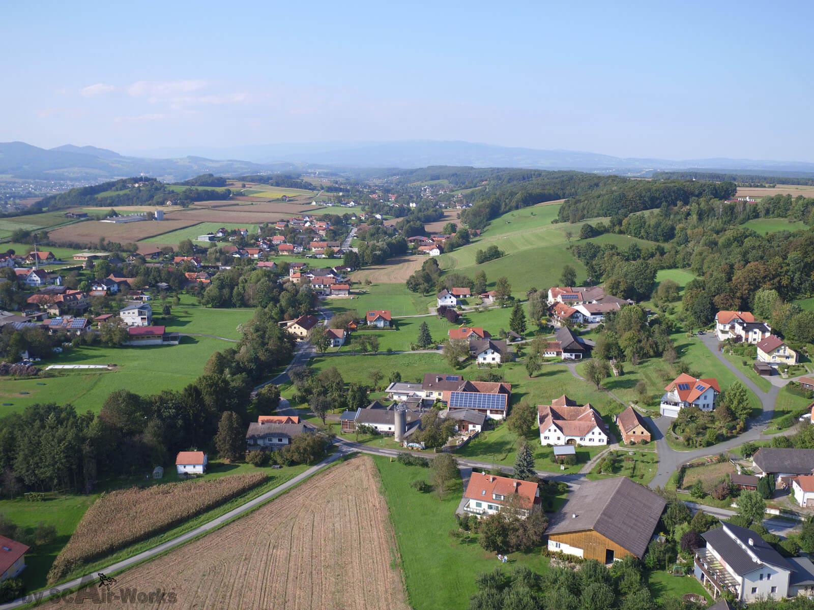 Gemeinde St. Johann in der Haide - Luftaufnahme